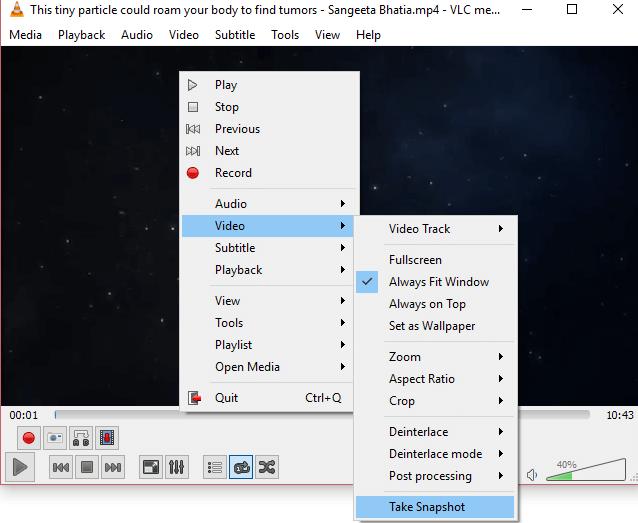 How To Screenshot VLC Media